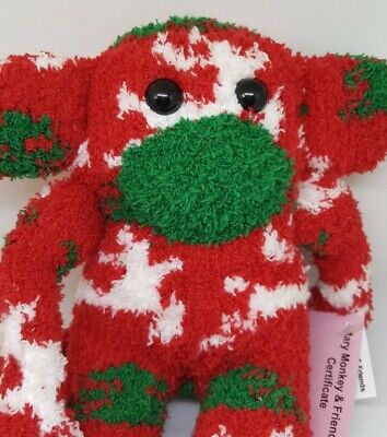 £6.99 • Buy Sock Monkey Rudolph Christmas Gift Hand Made Soft Toy Red And White Reindeer