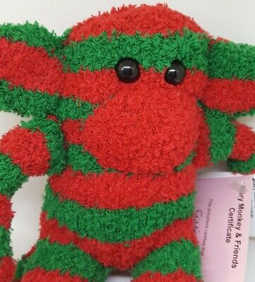 £6.99 • Buy Sock Monkey Freddie Christmas Gift Hand Made Soft Toy Red And Green Stripe