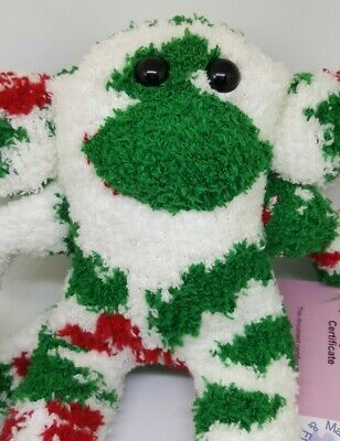 £6.99 • Buy Sock Monkey Holly Christmas Gift Hand Made Soft Toy Red And Green And White