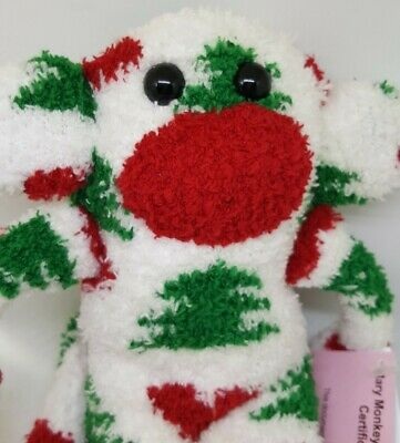 £6.99 • Buy Sock Monkey Ivy Christmas Gift Hand Made Soft Toy Red And Green And White