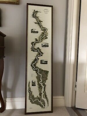 £89 • Buy Large TOMBLESON's Panoramic Map Of River Thames & Medway Framed Decorative