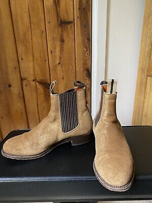 £39 • Buy Penelope Chilvers Brown Tan Gold Shimmer Boots Size 6 Uk