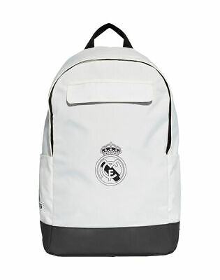 £0.99 • Buy Adidas Real Madrid Backpack Unisex Kids Adults White/black - Brand New