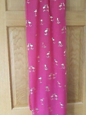 £8.99 • Buy Pink Scarf With Flamingos Viscose NEW