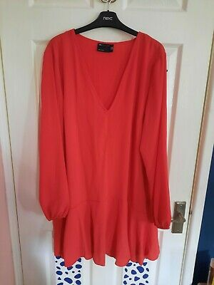 AU5.52 • Buy Red Dress From Asos, Size 18