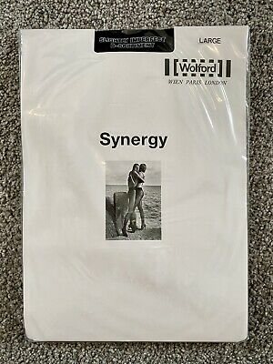 £9.99 • Buy Wolford Tights Size L Light Support Synergy NEW SLIGHTLY IMPERFECT Black 11284