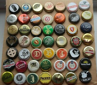 £1.30 • Buy 49 Crown Bottle Caps Tops All Different Beer Cider For Collection Or Craft