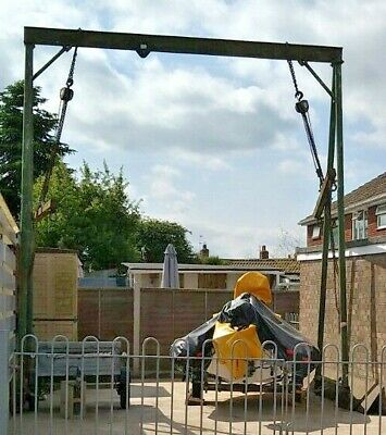 £350 • Buy Lifting Gantry A Frame With Blocks, Spreaders & Car 1T Without Deflection 1.5T