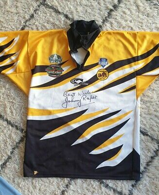 AU60 • Buy JOHNNY RAPER SIGNED CENTENARY OF RUGBY LEAGUE CAMPERDOWN DRAGON'S JERSEY. No.8.
