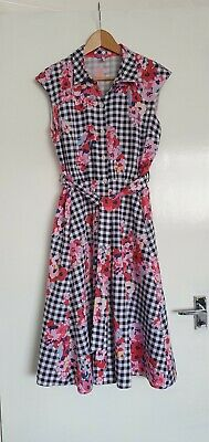 £3 • Buy Joules Flowered Belted Shirt Dress With Pockets Size 10