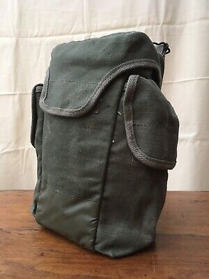 £7 • Buy Vintage French Army F1 Gas Mask Bag Olive Camera, Tool Bag