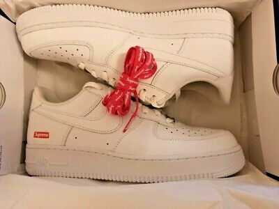 £134.99 • Buy  NEW Supreme X Nike Air Force 1 Low White UK 9 US 10 NEW DEADSTOCK