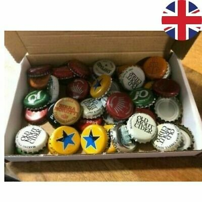 £4.99 • Buy 50 Used Bottle Caps Crown Caps Used Beer Cider Lager Soda Mixed IN CRAFT BOX