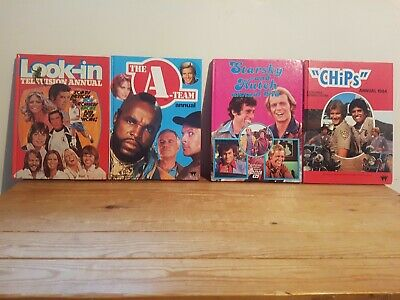 £8 • Buy Vintage Annuals A-Team, Starsky And Hutch, Chips, Look-In 70s & 80s - Lot D3