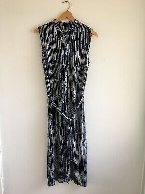 £9 • Buy Hobbs Button Front Midi Dress Size 10 In Vgc