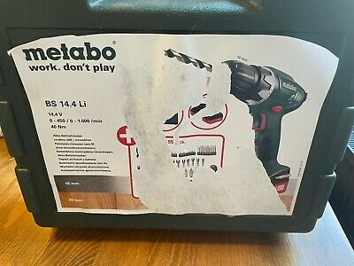 £10.20 • Buy Metabo Cordless Electric Drill Screwdriver Set