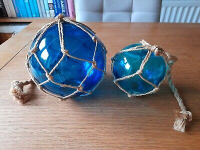 £4.99 • Buy Set Of 2 Glass Balls/Spheres Decorative Sailing/Nautical Themed Accessories