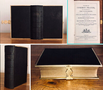 £39.95 • Buy 1858 Antique Leather Bible New Testament & Prayer Book Clasp Eyre & Spottiswoode