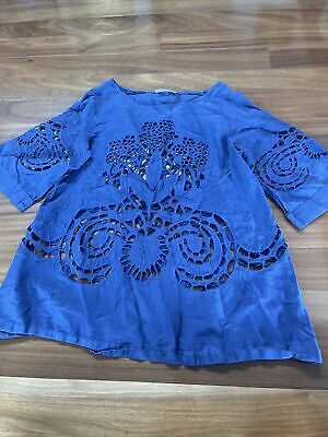 AU12 • Buy Boho Top Size 8 To 10 (Alice McCall??) Tag Cut Off