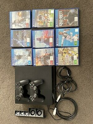 AU240.50 • Buy Ps4 Console 500gb. 2x Controllers, 9 Games