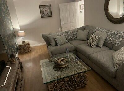 £1200 • Buy Barker & Stonehouse Milford Left Hand Corner Sofa With Foot Stool Immaculate