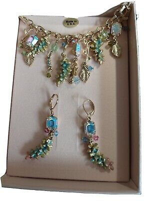 £19.99 • Buy Kirks Folly Wisteria Necklace And Earings Set BNIB