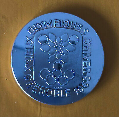 £42.76 • Buy Very Rare Olympic Games Grenoble 1968 Silver Medal – Fine Silver Stamp 999,9