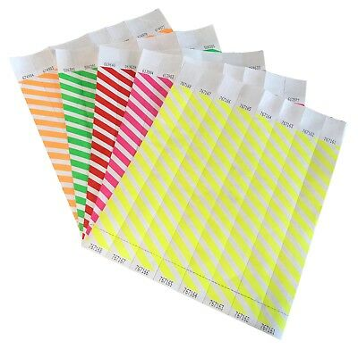 £3.49 • Buy 1  Striped Tyvek Paper Wristbands Security Events School Party
