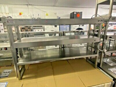 £599.99 • Buy 1.4m Heated Gantry 3 Tiers With 4 Heat Lamps On Top 2 Shelf Chefs Pass Through