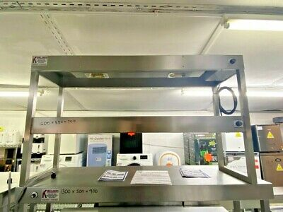 £399.99 • Buy 1.2m Heated Gantry 2 Tiers With 2 Heat Lamps On Each Tier Chefs Pass Through