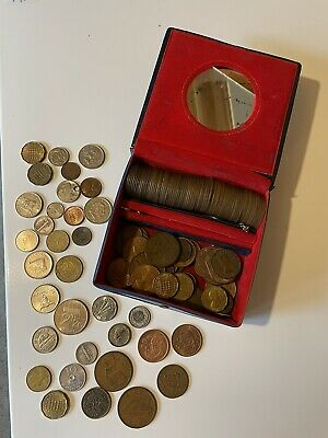 £10 • Buy Box Of Assorted Coins, Old Currency Plus Some Foreign Coins