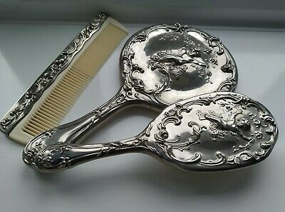 £20 • Buy Silver Plated Dressing Table Set