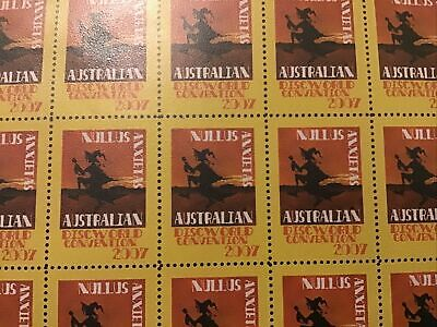 View Details Discworld Stamps Con XXXX 2007 Nullus Anxietas Sheet 2007 With Sport • 60£