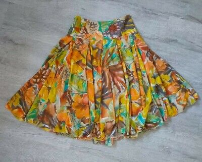 £2.95 • Buy Zara Tropical Floral Lined Floaty Small Skirt Size 8 - 10
