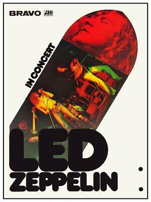 $15.94 • Buy Led Zeppelin - POSTER - Live In Concert 1973 Page Plant - AMAZING Wall Art Print