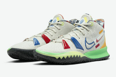 $100 • Buy Nike Kyrie 7 'Visions' Basketball Shoes Multi-Color DC9122-001 Men's NEW