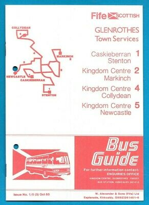 £0.99 • Buy Fife Scottish Glenrothes Town Services 1 2 4 5 Timetables Oct 1983