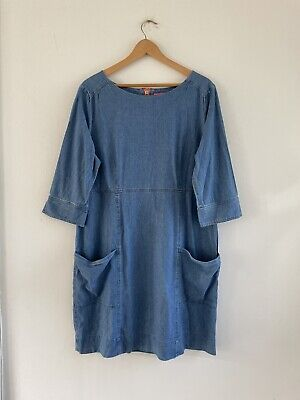 £9 • Buy Joules Denim Dress Size 16 Amberely In Vgc