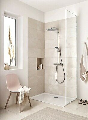£243 • Buy GROHE Vitalio Start 250 Cube Thermostatic Rainfall Shower Exposed Bar Mixer 5yr