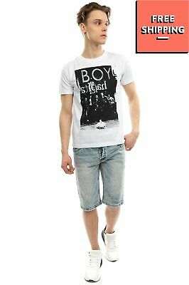 £1.24 • Buy BOY LONDON T-Shirt Top  Size S Short Sleeve Crew Neck Coated Photo Front