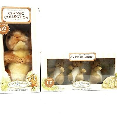 £39.29 • Buy Peter Rabbit Classic Collection Squirrel Nutkin + The Flopsy Bunnies Teddy Bears