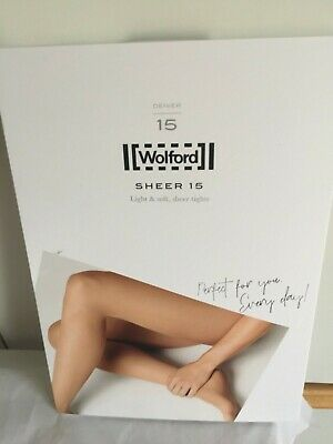 £8.90 • Buy Wolford Sheer 15 Nearly CARAMEL Tights LARGE BNIP Perfect Condition