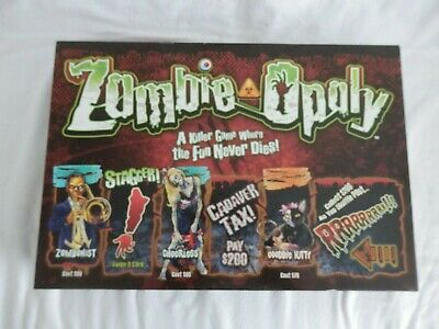 £19.99 • Buy Zombie Opoly Board Game Late For The Sky Complete