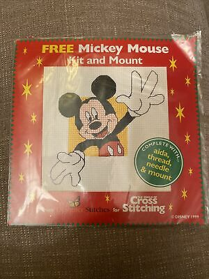 £0.99 • Buy Disney's Mickey Mouse Christmas Cross Stitch Kit, With Chart