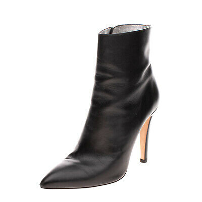 AU55.15 • Buy RRP €405 ALEXACHUNG Leather Ankle Boots EU 41 UK 8 US 11 Heel Made In Portugal