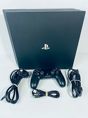 AU439.95 • Buy 1TB Sony PS4 Pro 4k Jet Black, Controller, Cables PAL *Free Post-VGC* CUH-7102B