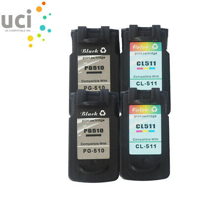 £43.99 • Buy 4 Ink Cartridge For Canon PG510CL511 Pixma IP2700 MP250 MP280 MP490 MX350