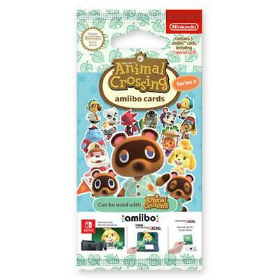 AU16 • Buy Animal Crossing Amiibo Cards Series 5 Single Pack (3 Cards) NEW