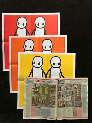 £350 • Buy Stik Hackney Today Posters 2020 MINT X3 Red Orange & Yellow +1 Newspaper