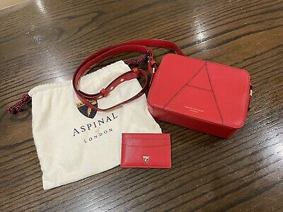 £100 • Buy New Aspinal Crossbody Camera A Bag In Red Leather With Card Holder